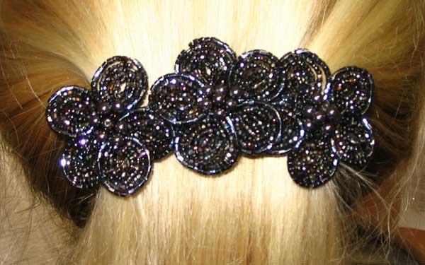 Заколки для волос из бисера